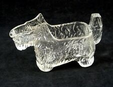Clear Glass SCOTTIE Dog Creamer Caddy Post Cereal Promotion L. E. Smith 1930s