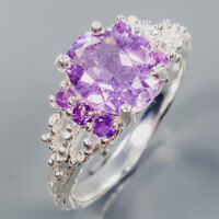 Amethyst Ring Silver 925 Sterling Fine Art Jewelry Size 7.5 /R139374