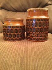 2 Autumn Brown Hornsea Pottery Storage Jars