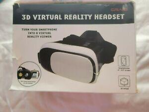 Craig 3D Virtual Headset Craig Turn Smartphone into a Virtual Reality Viewer NEW