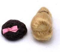 Lot Of 2 VINTAGE 1960s MATTEL BARBIE WIGS Blonde And Brunette