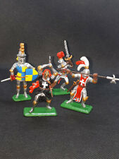 54mm Britains Deetail Knights. Metal soldiers. Hand Painted.