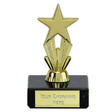 10 x 8cm Gold Micro Star Trophy -    FREE ENGRAVING