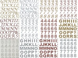 ELEGANZA ALPHABET & NUMBERS Glitter Stickers for Paper Fabric Glass Metal Wood +