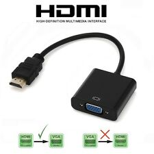 HDMI INPUT to VGA OUTPUT - HDMI to VGA Converter Adapter for PC DVD TV Monitor