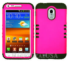 KoolKase Hybrid Cover Case for Samsung Galaxy S2 D710 R760 - Hot Pink (FL)