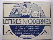 livre neuf -  BRODERIE  LETTRES MODERNES - Alphabets classiques et modernes N° 5