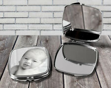 Personalised compact mirror, Your photo here, Pocket mirror gift