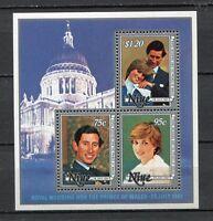 36652) Niue 1981 MNH Diana & Charles Wedding S/S