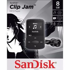 BRAND NEW SanDisk Sansa Clip Jam 8GB MP3 Player, Black (expandable memory)