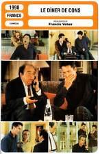 FICHE CINEMA : LE DINER DE CONS - Villeret,Huster,Veber 1998 - The Dinner Game