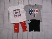 Gymboree Old Navy Baby Girls 4 Piece Lot Size 12 Mo Tops Bottoms Pariotic