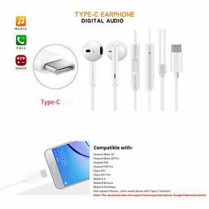 USB Type C Handsfree Earphone for Huawei P30 P30 Pro, Oppo Smart Phone