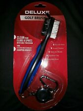 New Deluxe Black Golf Brush - Retractable Cord
