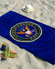 """""""Navy"""" panno da bagno con il US Army Insignia 150x75cm Panno spiaggia wk2 WWII Bath towel"""