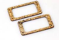 "Pickupring Set for Gretsch®/TV Jones® Filtertrons® ""Gold Sequins"""