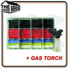 Heat Shrink 220 Piece kit Insulation wire electrical Black Colour + Gas Torch