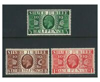 Great Britain 1935 Silver Jubilee Set of 3 Stamps WMK Inverted Mint MLH (6-1)
