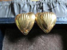 Magnifique Vintage ROSSI BIJOUX/France Heart & Shell clip sur boucles d'oreilles, Fab!