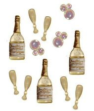 Jesse James - Dress It Up - CONGRATULATIONS 4735 ~ Champagne Bottles ~ Scrapbook