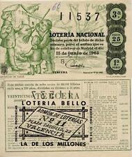 Año 1963. 15 Pesetas Décima parte del billete. 15 de Junio. Sorteo 17. 1ª Serie.