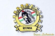 "Aufnäher ""Vespa Club Roma"" - Klub Rom Italy Italien Italia V50 PK Piaggio Patch"