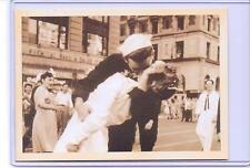 VINTAGE US NAVY SAILOR KISSING NURSE WAR ADVERTISING REPRODUCTION POSTCARD