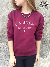 *LA JOIE DE VIVRE The Joy of Living Jumper Top Sweater Sweatshirt Fashion Homies