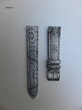 20mm Black Baby Python Snake Genuine Leather interchangeable Watch Band Strap