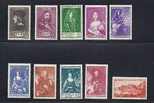 MONACO 1939 semi-postals Scott B26-35 complete VF MNH