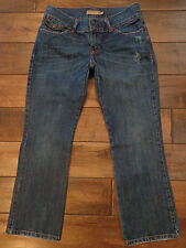 Abercrombie & Fitch Womens cropped Capri Distreesed Denim Blue Jeans Size 2