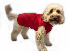 Step in Waterproof Lightweight Unlined Dog Coat Red 16 Inch