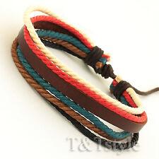 STYLISH T&T Leather Bracelet Wristband NEW