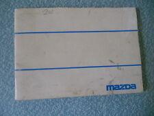 MAZDA 323 owner driver manual  1977