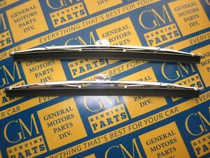 1949-1953 Buick Cadillac Oldsmobile Windshield Wiper Blades | Pair | Stainless
