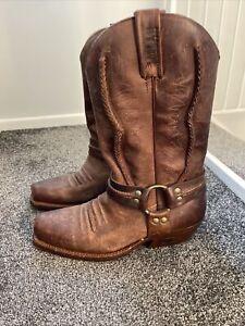 Loblan Leather Cowboy Boots Size 43
