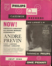 PHILIPS RECORD CATALOGUE SUPPLEMENT 1960 07 JULY previn/anne shelton/roy castle