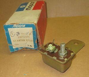 NOS Mopar 2875618 starter relay 1969 1970 1971 1972 1973 Plymouth Dodge Chrysler