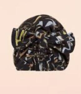 Peter Pilotto Women's Black Taffeta Turban One Size RRP $280