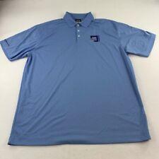 New listing Nike Golf Polo Shirt Adult 2XL XXL Blue White DriFit Golfer Rugby Casual Men