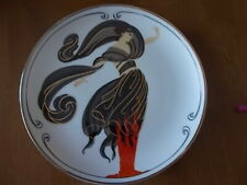 "Erte Franklin Mint Flames Of Love Limited Edition 8"" Plate Platinum Trim Mint"