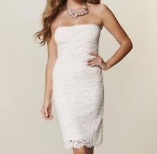 robe Zara blanc cassé écru neuve dentelle bustier S