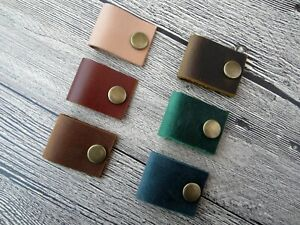 Leather Earbud Holder Phone Cord Organizer cable organizer earphone holder case
