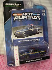 NY STATE POLICE 1988 FORD MUSTANG∞blue; New York∞Greenlight Hot Pursuit 1:64 CAR