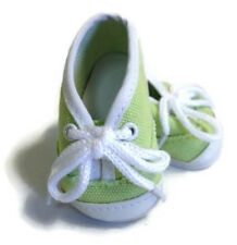 "Green Canvas Tennis Sneaker Shoes made for 18"" American Girl Doll Clothes"