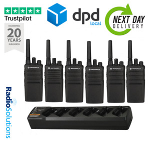 X6 Motorola XT420 Walkie Talkie Two Way Radio - SIX PACK WITH MULTI CHARGER