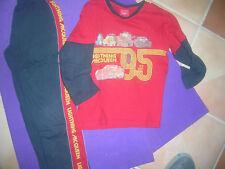 Schlafanzug  Gr 140 Pyjamaset Disney Cars rot blau L Mc Queen gepflegter Zustand