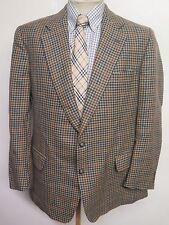 """Genuine Burberry Hombre Marrón Houndstooth Tweed Blazer Chaqueta 40"""" R Euro 50"""