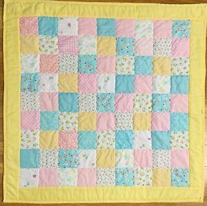 "Handmade Baby Quilt X-Large 46"" x 46""  Patchwork Crib Nursery Blanket New"