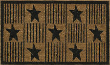Black and Tan Primitive Star Doormat by Park Designs Coir with Vinyl Back, 29x17